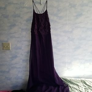 Long formal dress with shawl